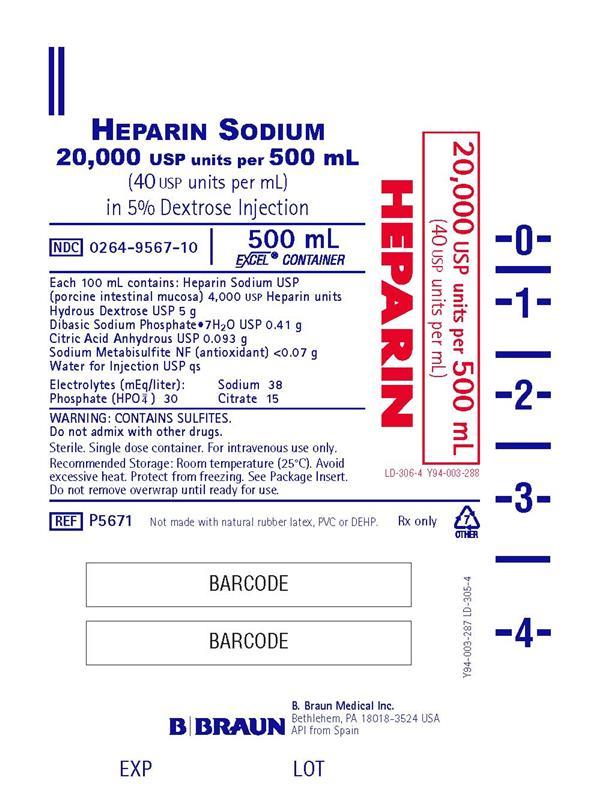 500 mL Container Label P5671