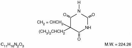Structural formula of Butalbital