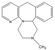Mirtazapine Structural Formula
