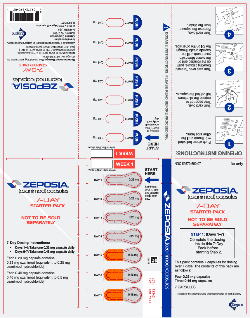 PRINCIPAL DISPLAY PANEL - 7 Capsule Blister Pack - NDC: <a href=/NDC/59572-890-07>59572-890-07</a>