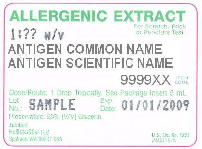 Example Vial Label