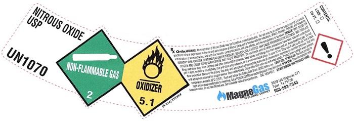 Nitrous Oxide shoulder label