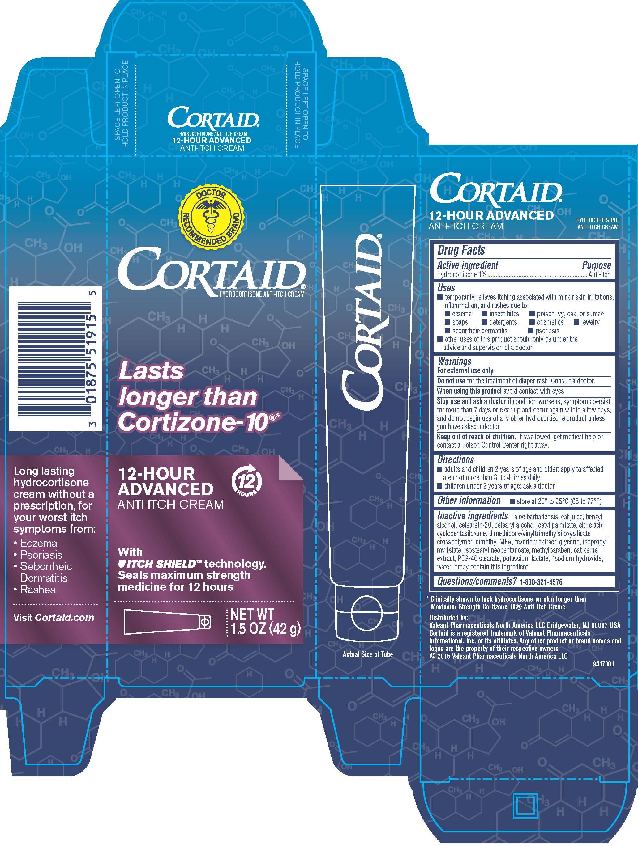 Cortaid 12 Hour Advanced Anti-Itch Cream - 1.5 oz Carton