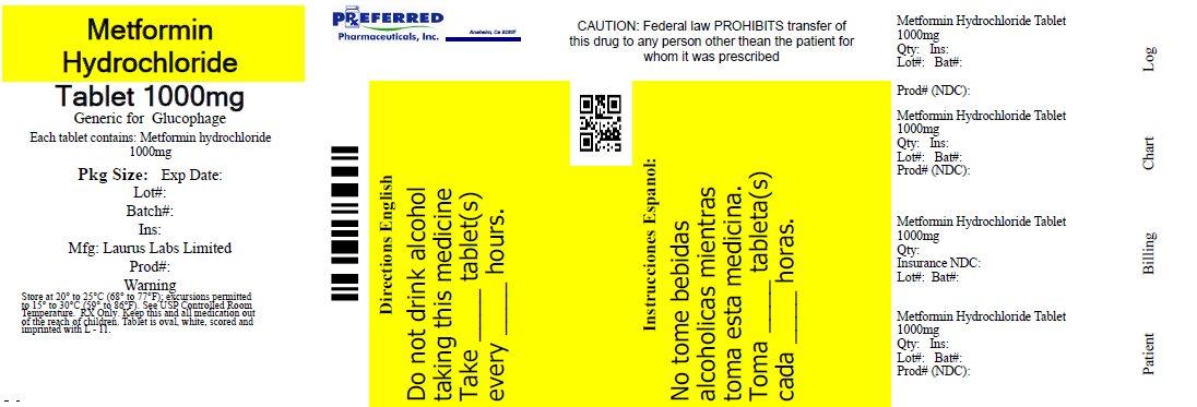 Metformin Hydrochloride Tablet 1000mg