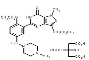 chemical structure of sildenafil citrate