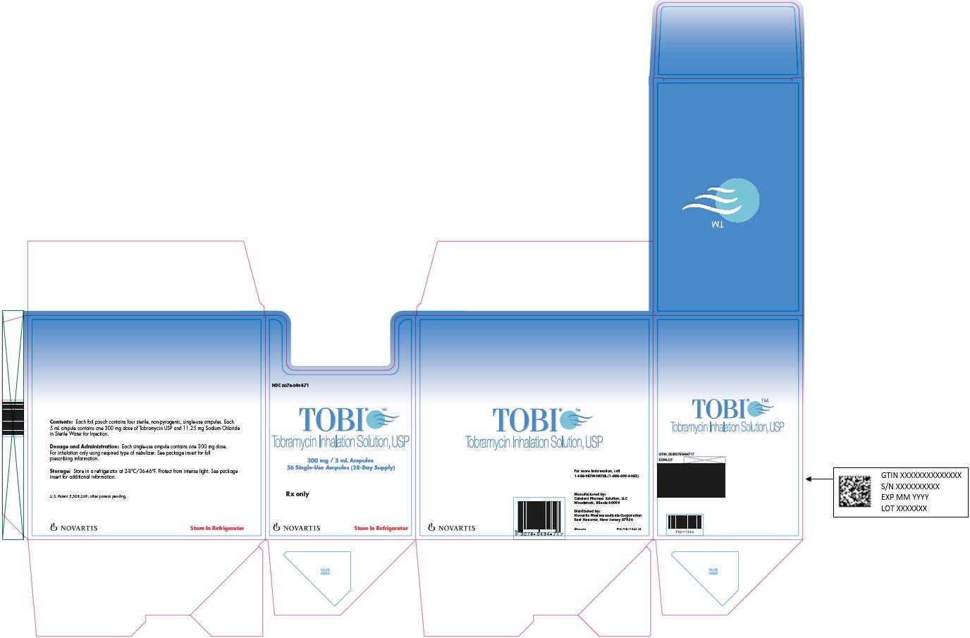 TOBI® 300 mg/5 mL Ampules Carton Label