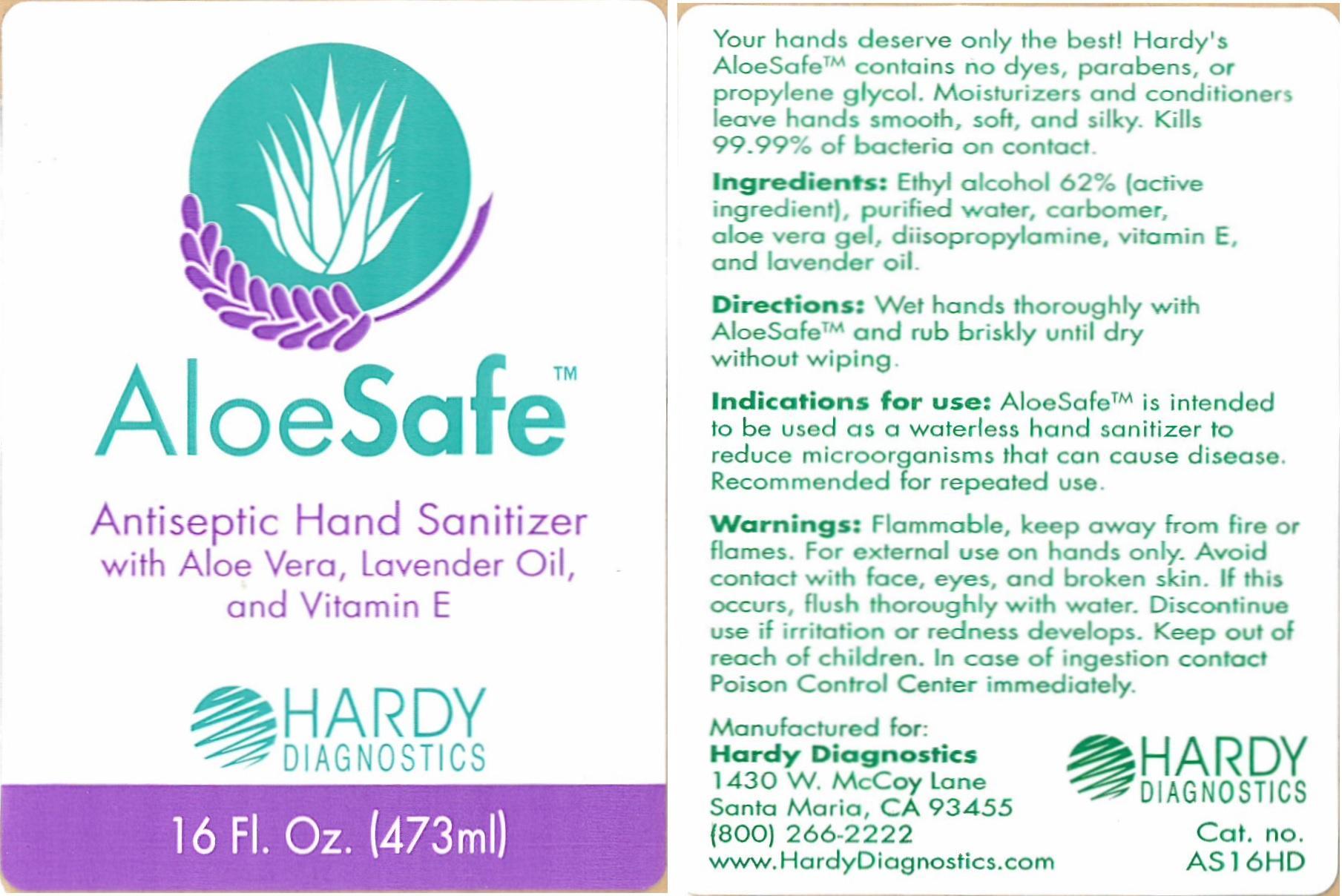 AloeSafe Label