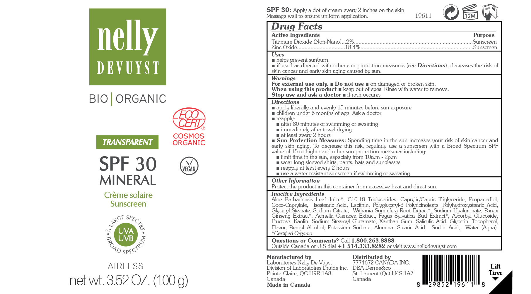 Nelly Devuyst Transparent Mineral Sunscreen