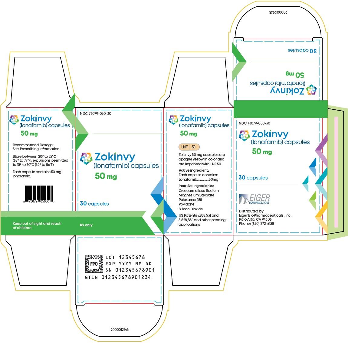 50 mg 30-count Bottle Carton Label