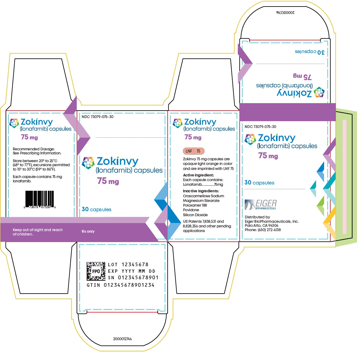 75 mg 30-count Bottle Carton Label