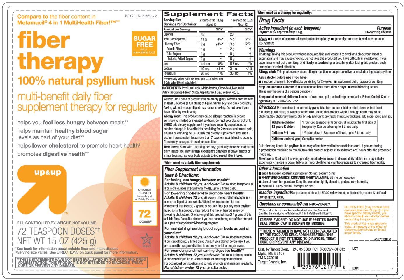 Target Sugar Free Orange Flavor Natural Psyllium Husk