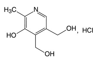 Pyridoxine Hydrochloride Structural Formula