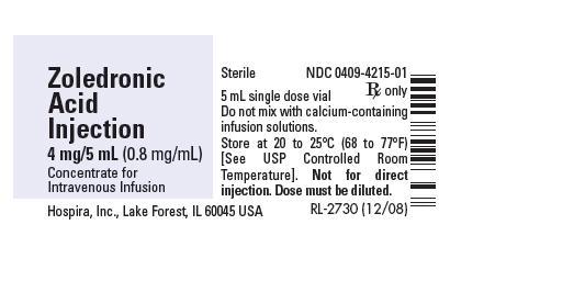 PRINCIPAL DISPLAY PANEL - 4 mg/5 mL Vial Label