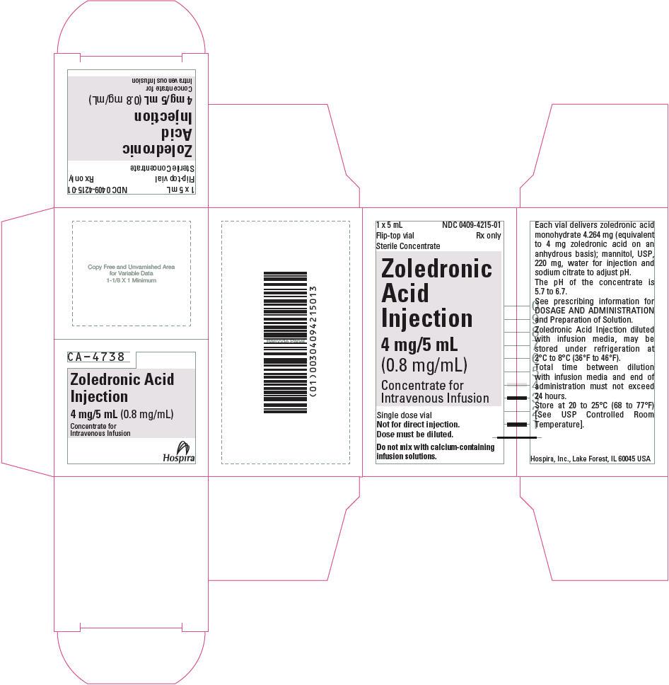 Principal Display Panel - 4 mg/5 mL Vial Carton