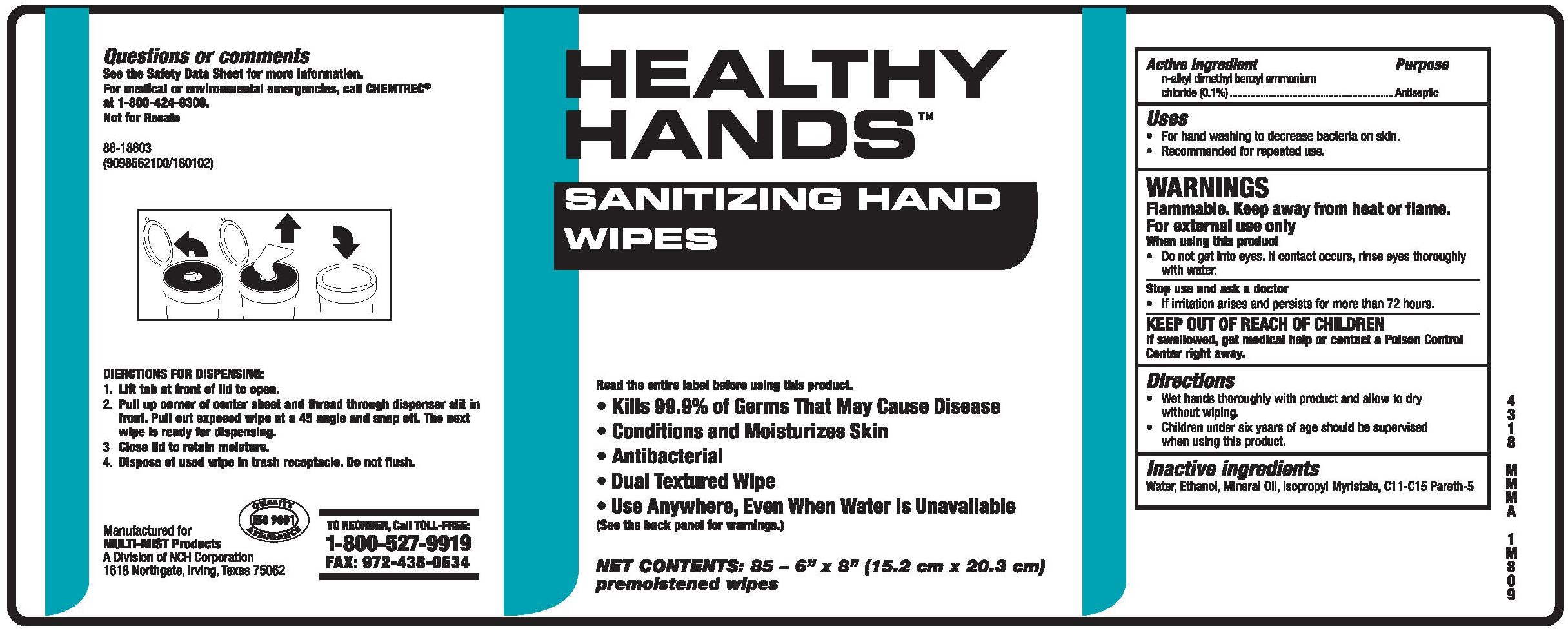 Healthy Hands Sanitizing Hand Wipes