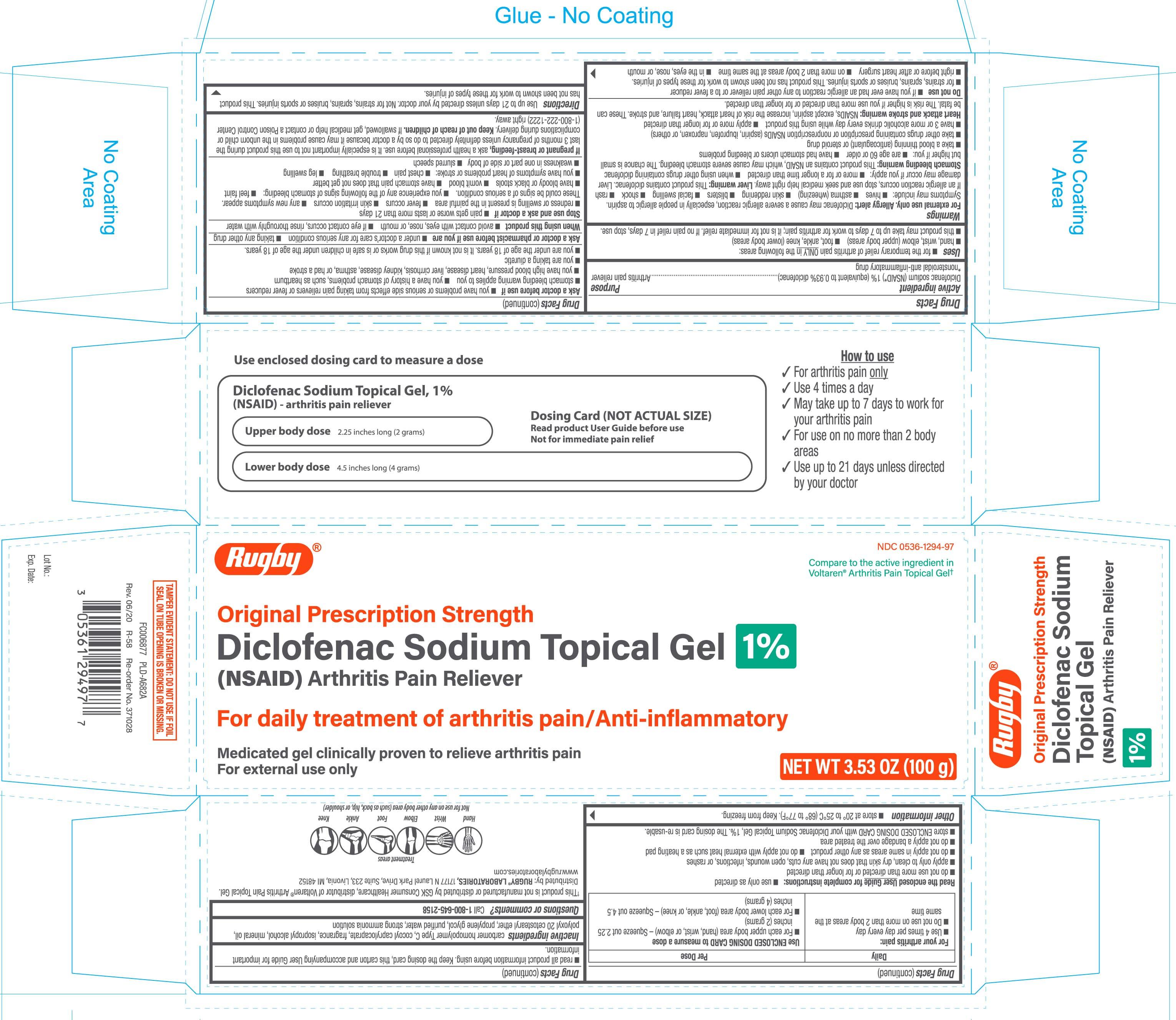Diclofenac sodium (NSAID) 1 %