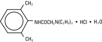 structural formula lidocaine hydrochloride