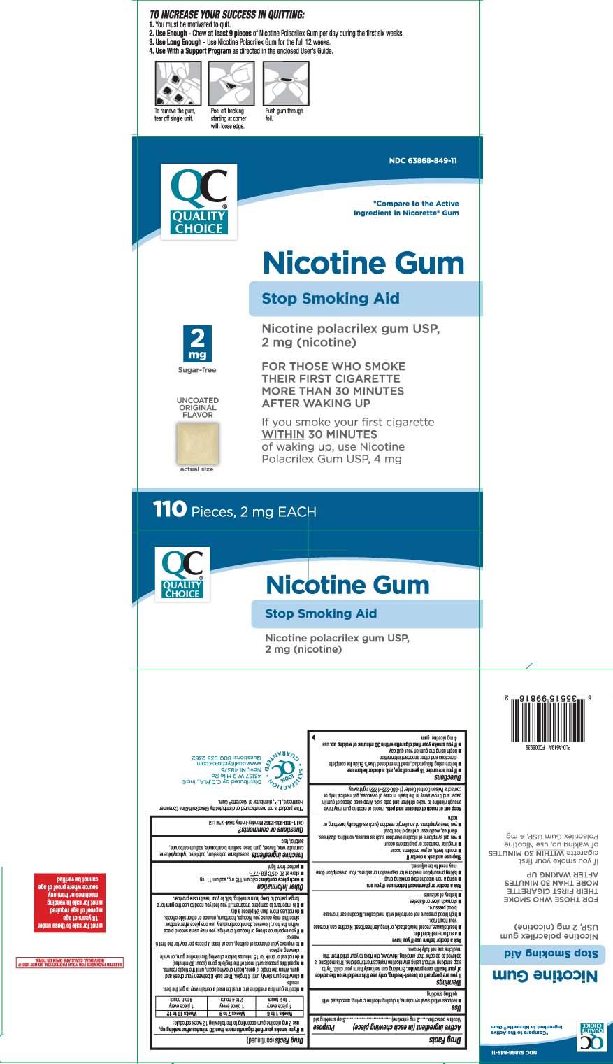 Nicotine Polacrilex 2 mg (nicotine)