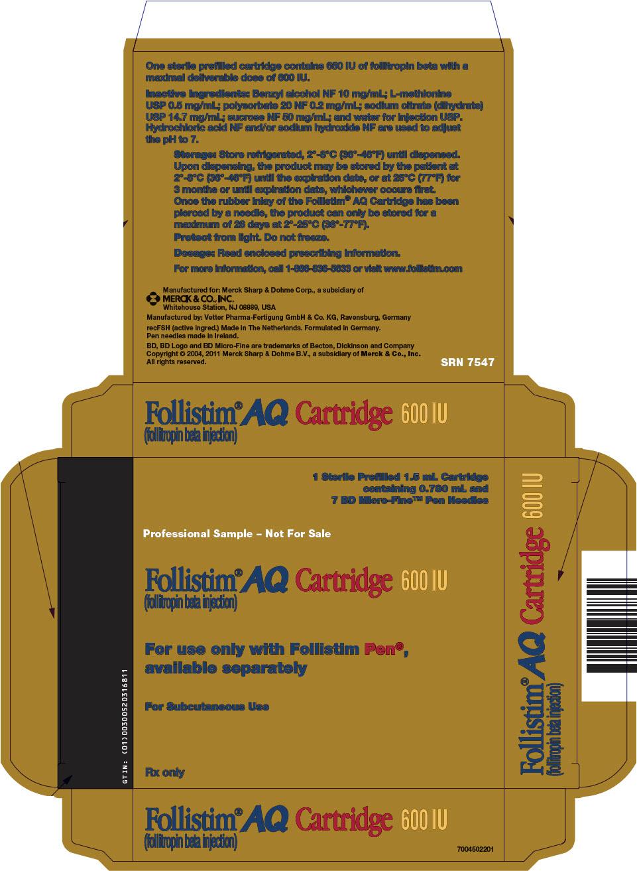 PRINCIPAL DISPLAY PANEL - 600 IU Kit Carton