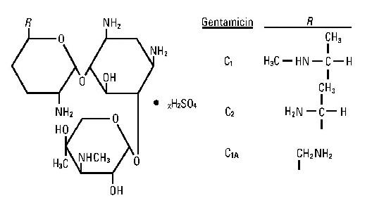 structural formula gentamicin sulfate