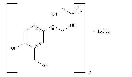 albuterol-structure
