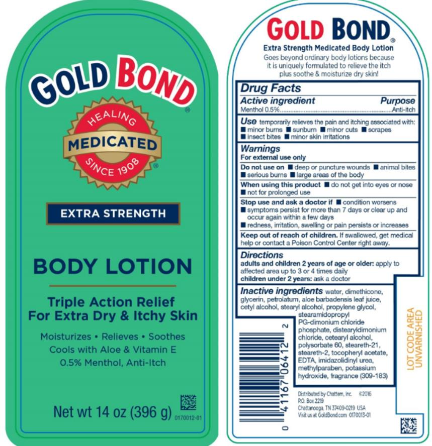 GOLD BOND®  EXTRA STRENGTH BODY LOTION Triple Action Relief  For Extra Dry & Itchy Skin Net wt 14 oz (396 g)
