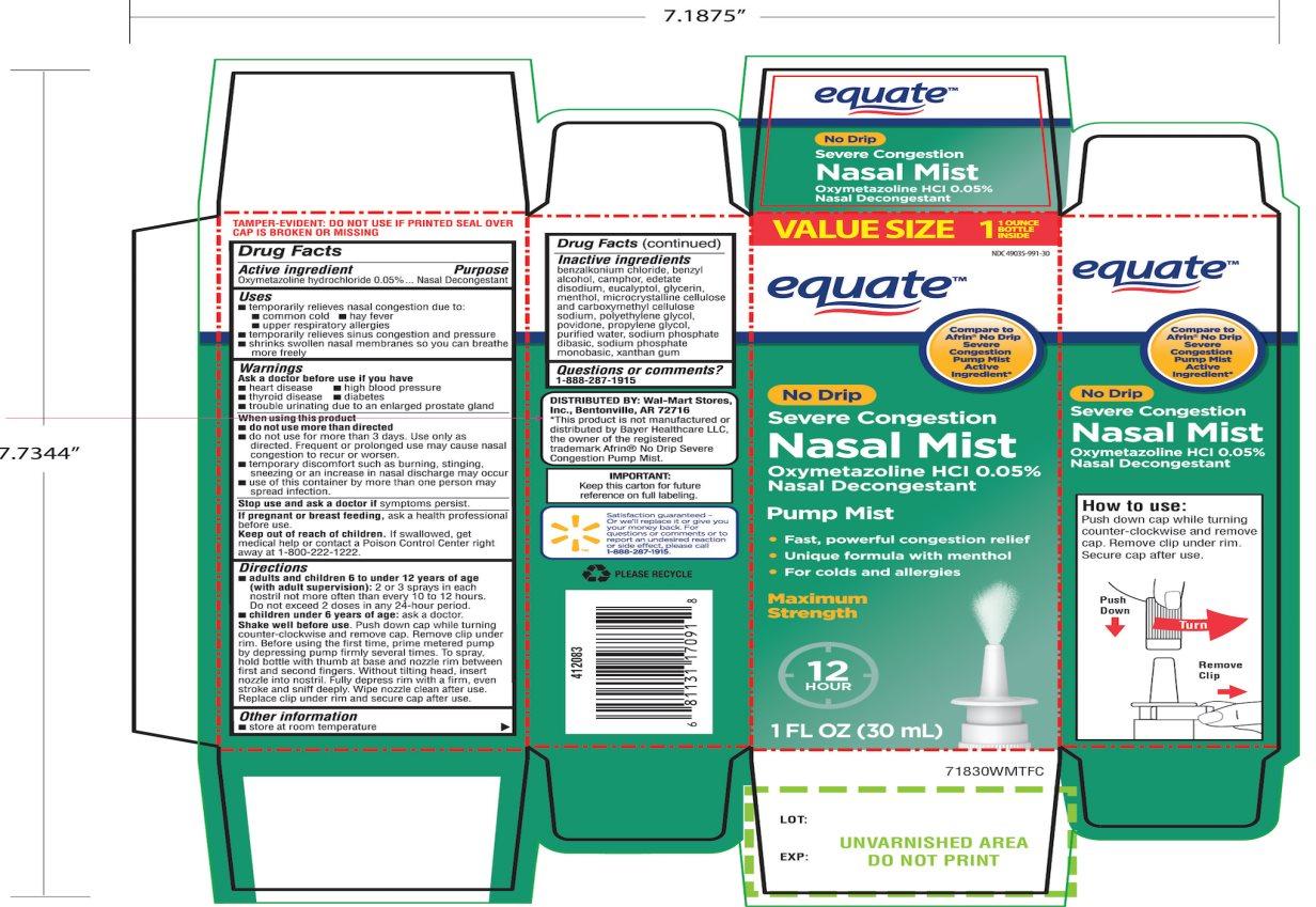 No Drip Nasal Mist Nasal Decongestant Severe Congestion