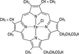 Structural Formula of Hemin