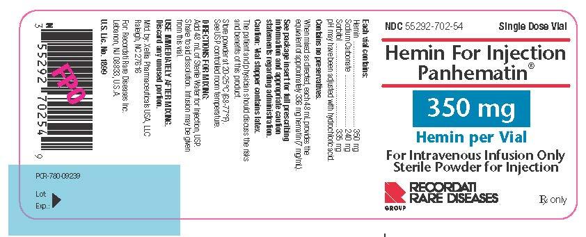 Hemin For Injection Panhematin 350 mg Hemin per Vial vial label