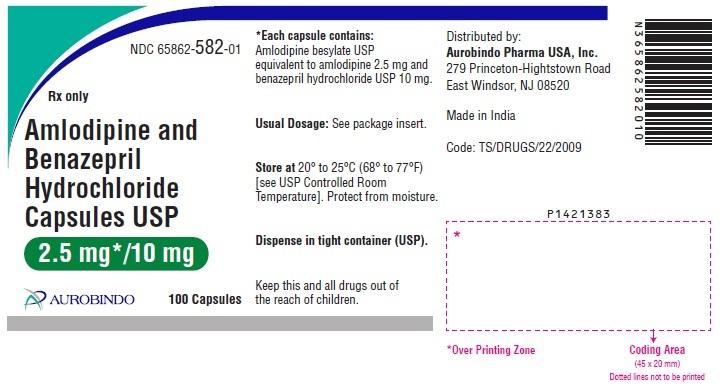 PACKAGE LABEL-PRINCIPAL DISPLAY PANEL - 2.5 mg/10 mg (100 Capsules Bottle)