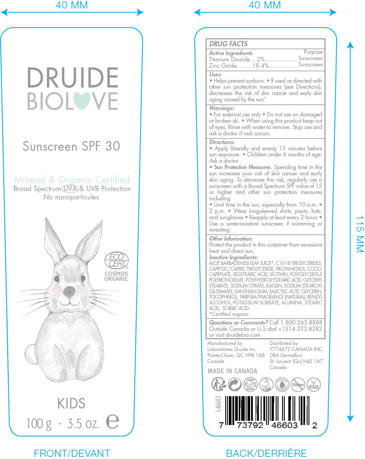 Druide Bio Love Sunscreen 100g