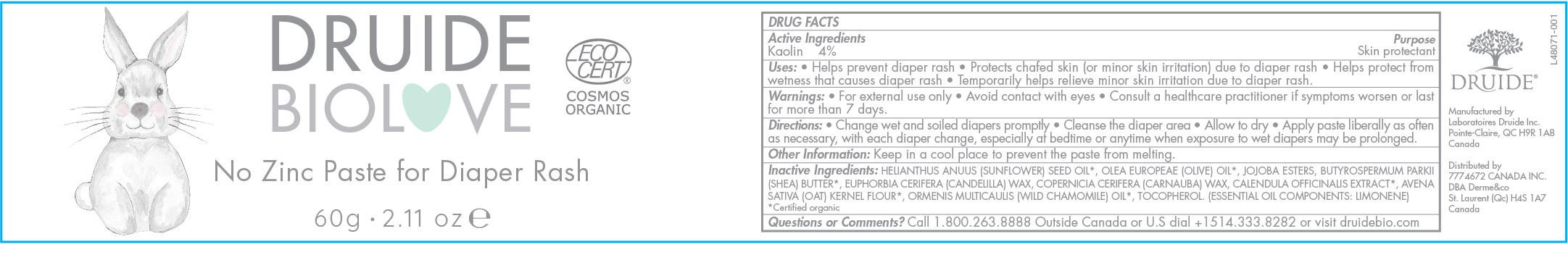 Druide Bio Love Diaper Rash Paste 60g