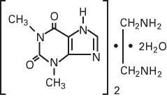 structural formula aminophylline