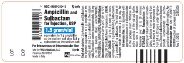 Ampicilin and Sulbactam for Injection, USP 1.5 g/vial label image