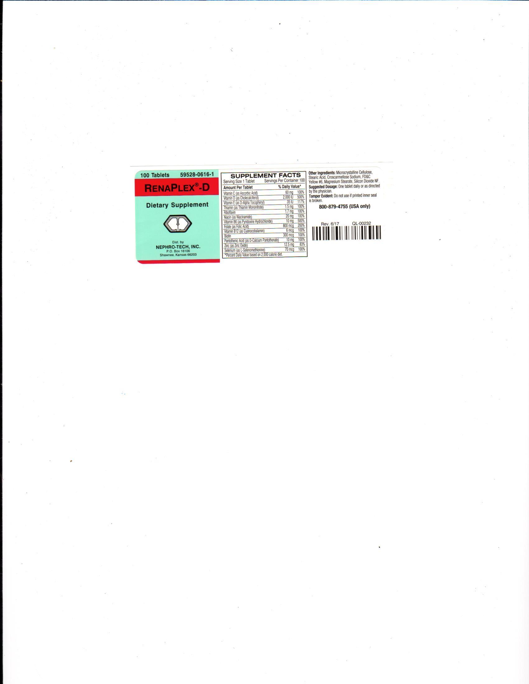 RenaPlex D label