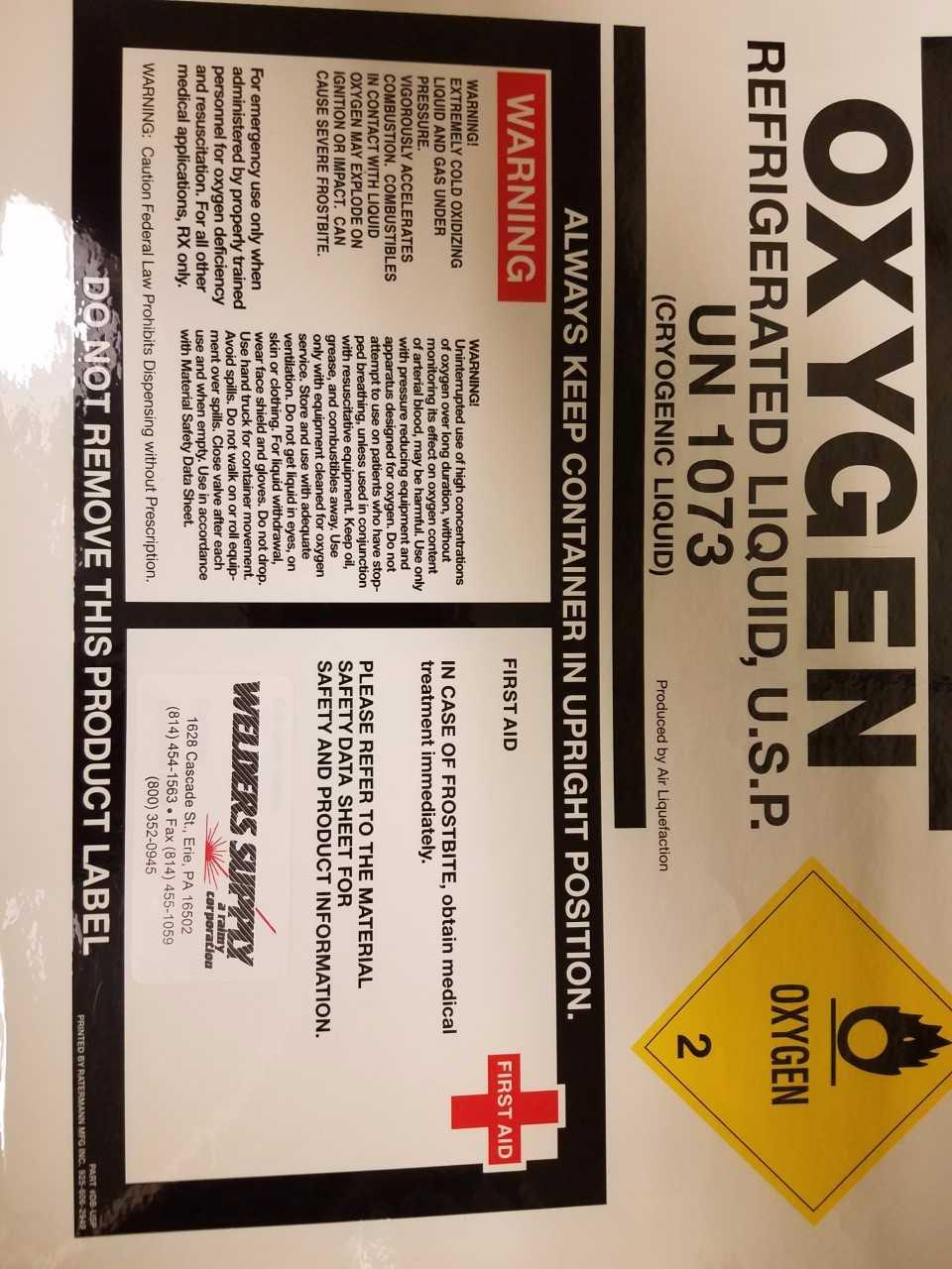 oxygen refrigerated liquid