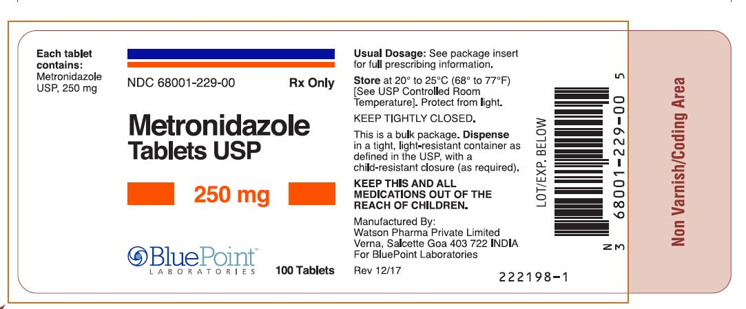 Metronidazole Tablets, USP, 250mg 100ct