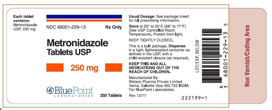 Metronidazole Tablets USP 250mg 250ct