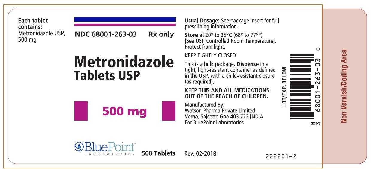 Metronidazole Tablets, USP, 500mg 500ct