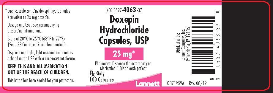 25 mg bottle label