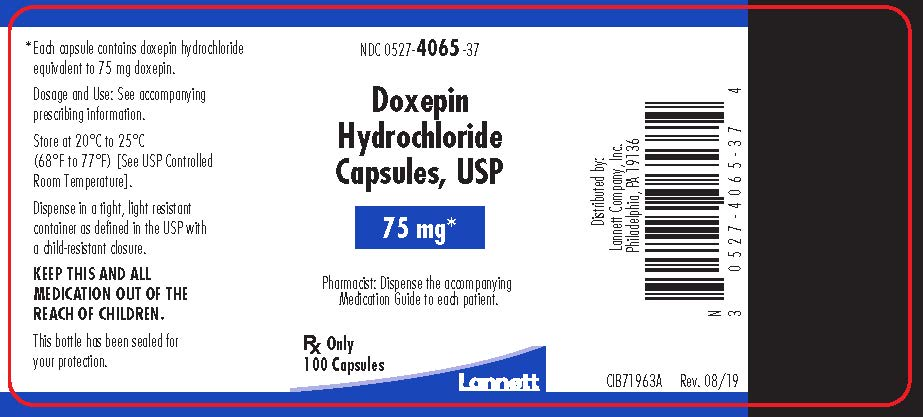 75 mg bottle label