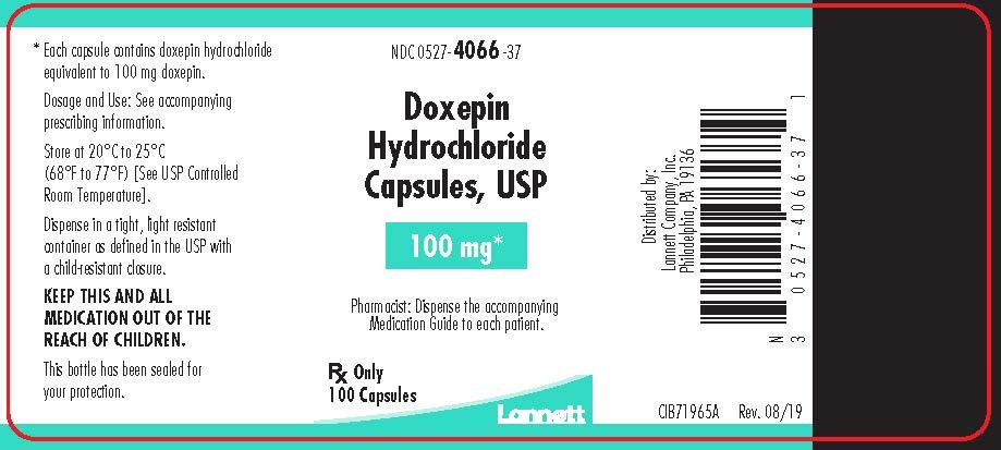 100 mg bottle label