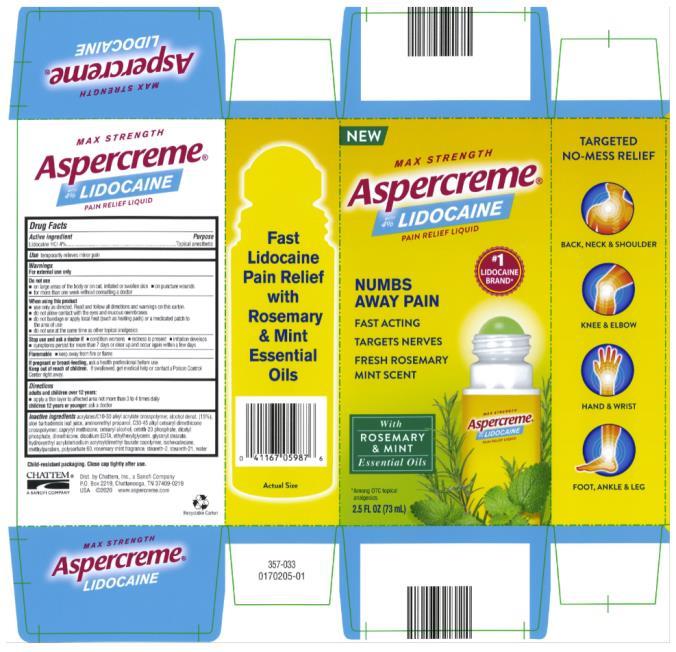 MAX STRENGTH Aspercreme with 4% LIDOCAINE 2.5 FL oz (73 mL)