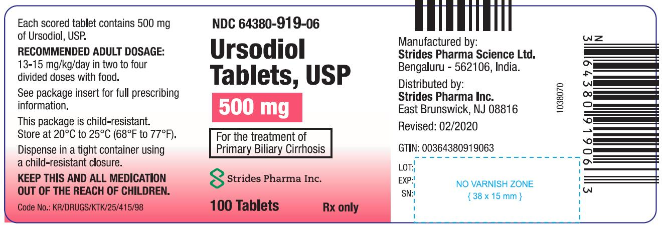 Ursodiol Tablets USP 500mg - 100s
