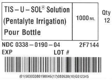 TIS-U-SOL Solution Representative Carton Label