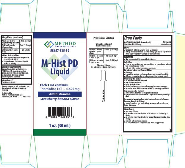PRINCIPAL DISPLAY PANEL 58657-535-30 M- Hist PD Liquid 1 mL 1 oz. (30 mL)