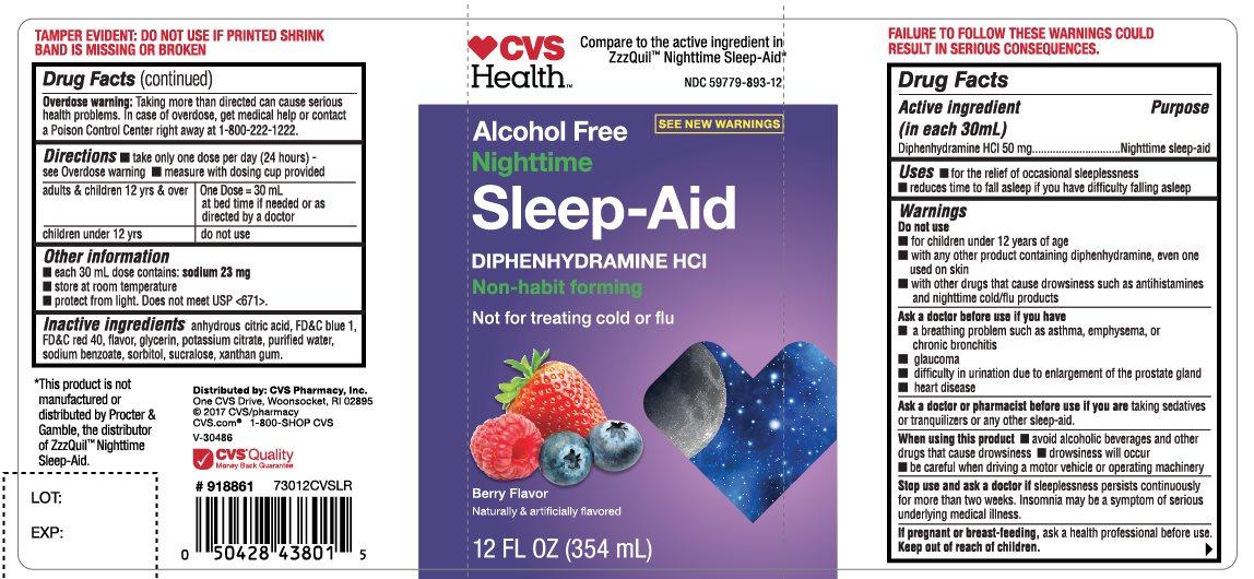 CVS Health Nighttime Sleep Aid Berry Flavor 12 FL OZ