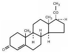 Progesterone structural formula.