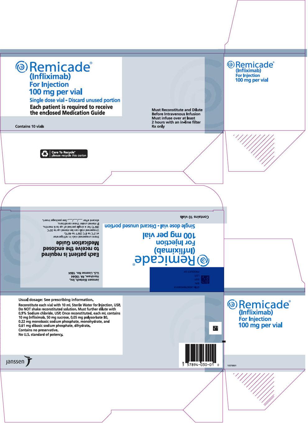 PRINCIPAL DISPLAY PANEL - 100 mg Vial Carton