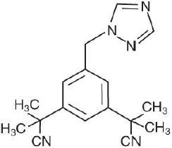 anastrozole structural formula